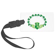 Claddagh Heart Crown Shamrocks Luggage Tag