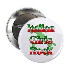 "Italian Girls Rock 2.25"" Button (100 pack)"