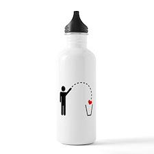 Throw Away Heart Water Bottle