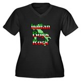 Italian Boys Rock Women's Plus Size V-Neck Dark T-