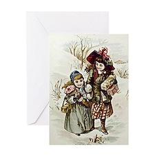 Vintage - Children Delivering Christ Greeting Card