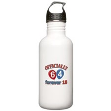 Officially 64 forever 18 Water Bottle