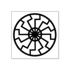 """Black Sun Square Sticker 3"""" x 3"""""""