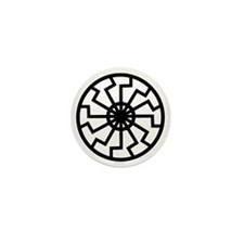 Black Sun Mini Button