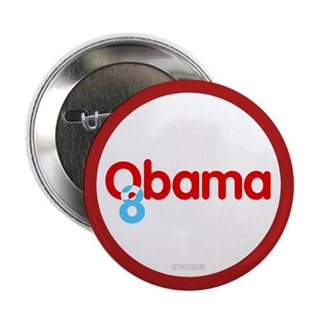 Vote Obama 08 Button