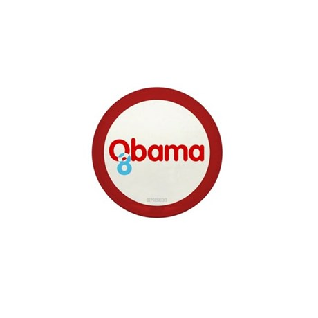 Vote Obama 08 Mini Button