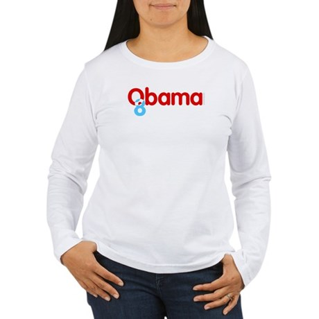 Vote Obama 08 Womens Long Sleeve T-Shirt