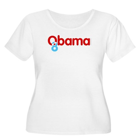 Vote Obama 08 Plus Size Scoop Neck Shirt