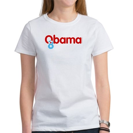 Vote Obama 08 Womens T-Shirt
