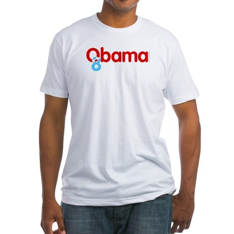 Vote Obama 08 Fitted T-Shirt