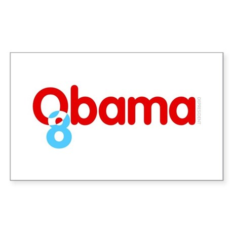 Vote Obama 08 Rectangle Sticker