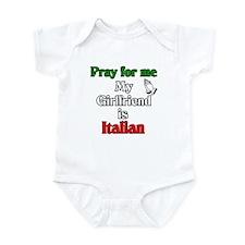 Pray for me my girlfriend is Infant Bodysuit