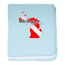 Michigan Diver baby blanket
