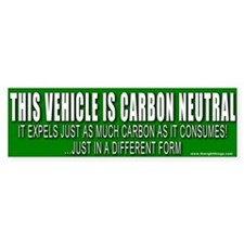 Carbon Neutral Vehicle Bumper Car Sticker