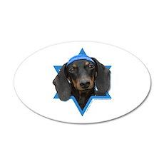 Hanukkah Star of David - Doxie 20x12 Oval Wall Dec