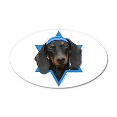 Hanukkah Star of David - Doxie 35x21 Oval Wall Dec
