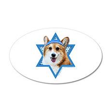 Hanukkah Star of David - Corgi 20x12 Oval Wall Dec