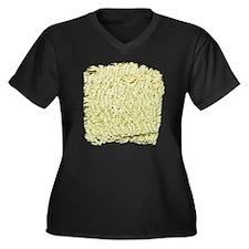 Instant Nood Women's Plus Size V-Neck Dark T-Shirt
