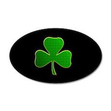 Lucky Irish Shamrock 35x21 Oval Wall Decal