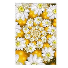 Fractal Daisy Glow Postcards (package Of 8)