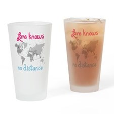 LDR ( Love know no Distance) Drinking Glass