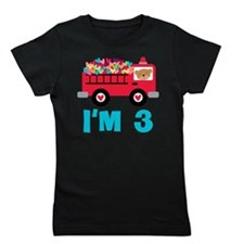 3rd Birthday Firetruck Girl's Tee