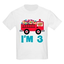 3rd Birthday Firetruck T-Shirt