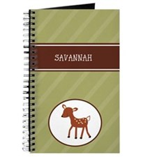 Woodland Deer Customized Journal - Add Any Name