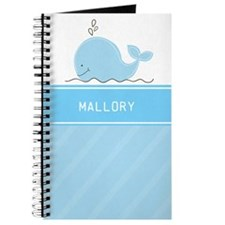 Little Blue Whale Custom Journal - Add Any Name