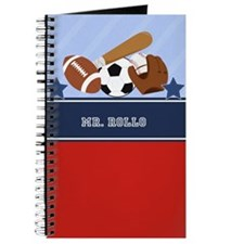 Sports All-Stars Journal Teacher Gift Add A Name