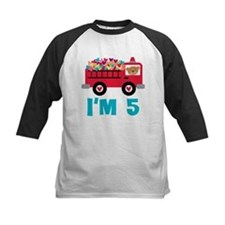 5th Birthday Firetruck Tee