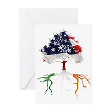 USA Irish Roots Greeting Card