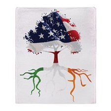 USA Irish Roots Throw Blanket