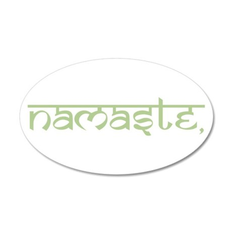Namaste, Yoga 20x12 Oval Wall Decal