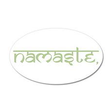 Namaste, Yoga 20x12 Oval Wall Decal