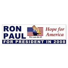Elect Ron Paul for President in 2008 Bumper Sticke