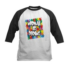 Normal Is Boring Autism Baseball Jersey