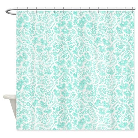 Teal Colored Shower Curtains