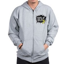 Sarcoma Cancer Kick Butt Zip Hoodie