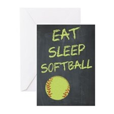eat, sleep, softball Greeting Cards (Pk of 20)