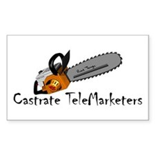 Castrate TeleMarketers Sticker (Rect.)