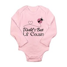Worlds Best Lil Cousin Long Sleeve Infant Bodysuit