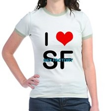 """I HEART SF"" Women's Ringer T-Shirt"