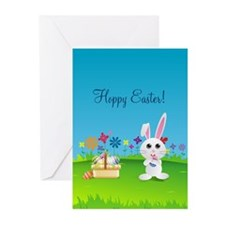 Hoppy Easter Bunny Greeting Cards