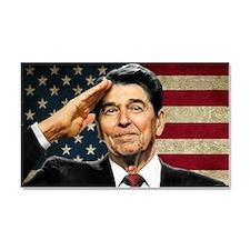 Reagan flag salute Car Magnet 20 x 12