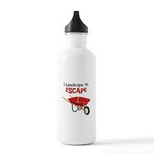 I Landscape To ESCAPE Water Bottle