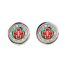 Medical Marijuana Cufflinks