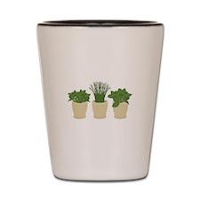 Herb Plants Shot Glass