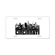 Cincinnati Skyline Aluminum License Plate