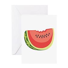 Watermelon Slice Greeting Cards